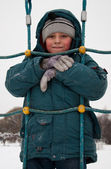 Boy in snow — Stock Photo