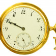 Stock Photo: Old style gold pocket watch