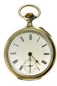 Old style silver pocket watch — Stock Photo