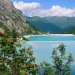 Two reservoirs in an alpine valley — Stock Photo