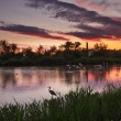 HDR image of lagoon at sunset — Stock Photo