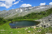 Tarn in a glacial cirque — Stock Photo