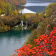 Stock Photo: Two lakes and waterfalls in Plitvice