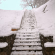 Snow covered staircase — Stock Photo #2393640