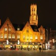 Stock Photo: Night view of Brugge, Belgium