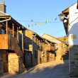 Stock Photo: Spanish village along Camino de Santiago