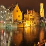 Night view of Brugge, Belgium — Stock Photo