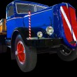 Stock Photo: Bright colored 1938 build light truck