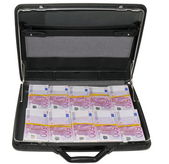 One million Euro in a briefcase — Stock Photo