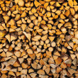 Stock Photo: Stack of chopped wood