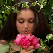 Fairy with Flowers — Stock Photo #2218342