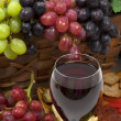 Royalty-Free Stock Photo: Wine and Grapes