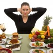 Be Strong and Eat Healthy — Stock Photo