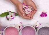 Spa with Orchids — Stockfoto