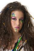 Pintura y maquillaje — Foto de Stock