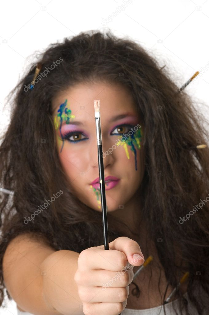 Girl with beautiful make up — Stock Photo #2220505