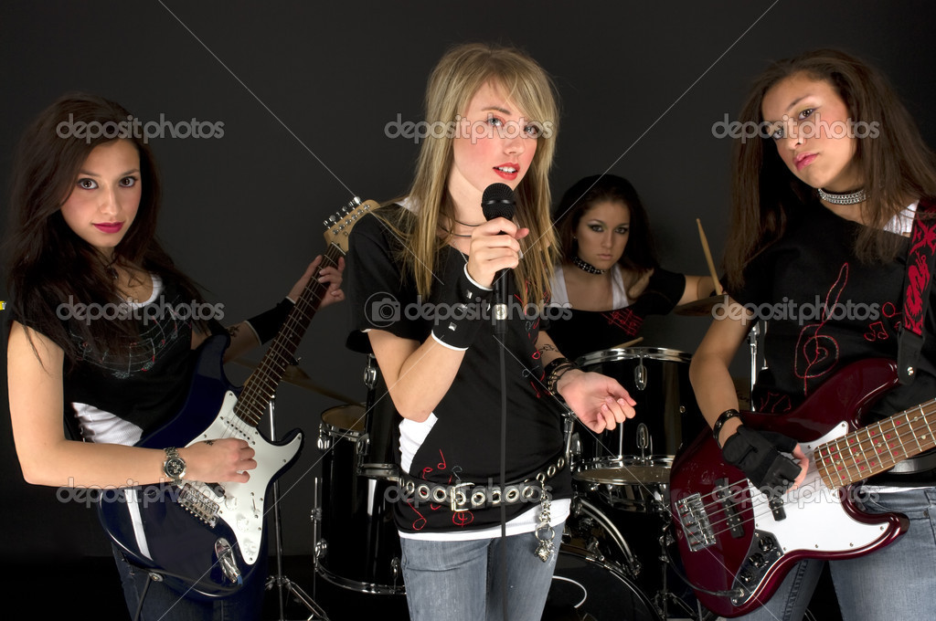 Rock Stars during a concert — Stock Photo #2222214