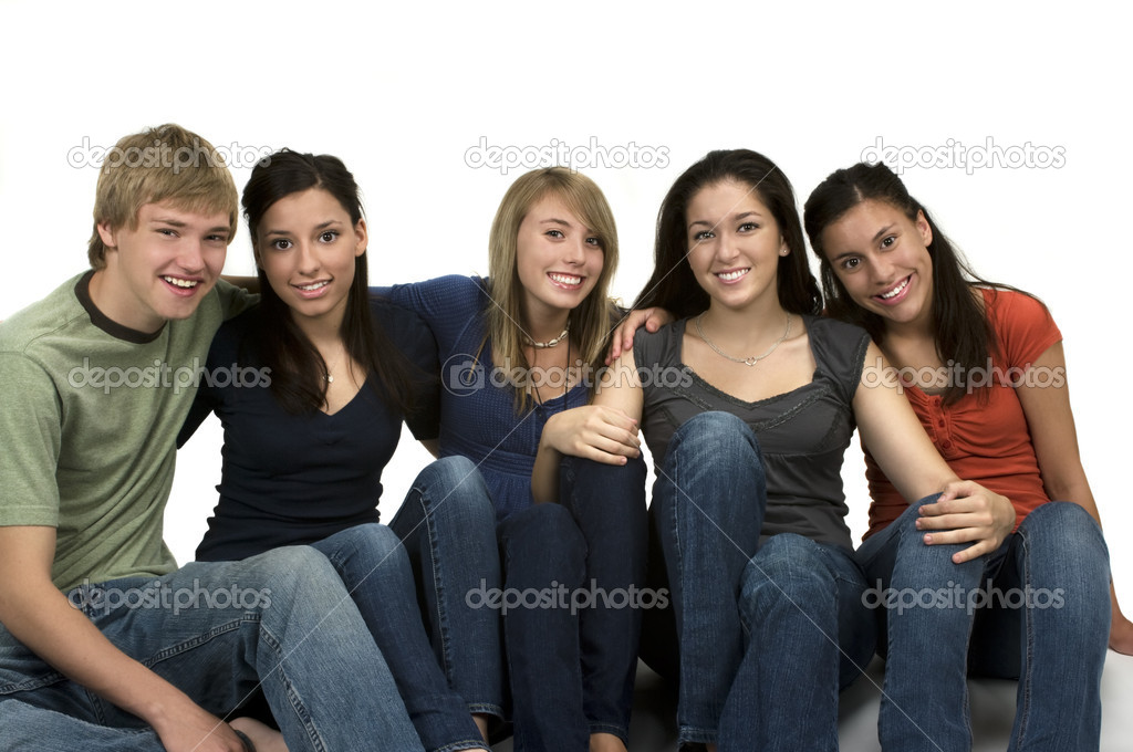 Diverse group of happy friends  Stock Photo #2222239