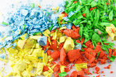 Yellow, red, green and blue — Stock Photo