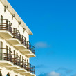 Hotel with balcony — Stock Photo