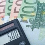 Calculator and Euro Bank Notes — Stock Photo #2216967