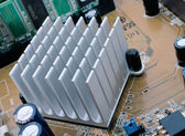 Chipset Radiator — Stock Photo