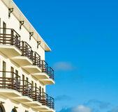 Hotel with balcony — Stock Photo