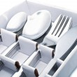 Stock Photo: Close up of flatware