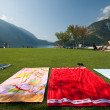 Stock Photo: Beach on Lake Molveno