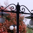 Stock Photo: Lamps in garden