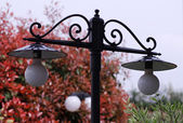 Lamps in the garden — Stock Photo