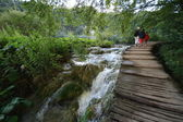 Footbridge - plitvice lakes — Stock Photo