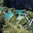 Stock Photo: Footbridge - plitvice lakes