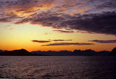 Sunset on the islands lofoten - Norway — Stock Photo