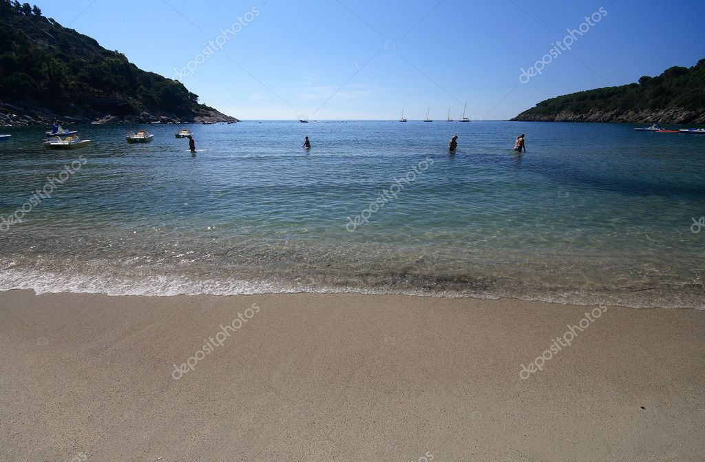 The beach of fetovaia, to the island of elba - Tuscany  Stock Photo #2515719