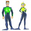 Scuba divers couple - Stock Photo