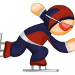 Stock Vector: Speed skater icon