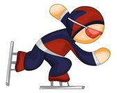 Speed skater icon — Stock Vector