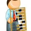 Stock Vector: Bookkeeper icon
