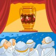 Royalty-Free Stock Vector Image: Ancient Greeks looks at the vase