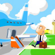 Royalty-Free Stock Photo: Business man entering in the airplane
