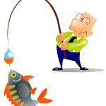 Man caught a big fish — Stock Photo