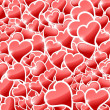 Red hearts background — Stock Photo #2632973