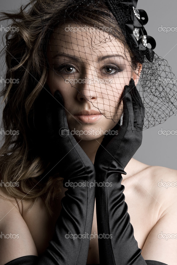 Beautiful Shot of a Stunning Brunette Model in Veil