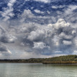 Storm Clouds move in over Lake — Stock Photo
