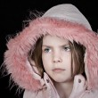 Royalty-Free Stock Photo: Cute Child in Pink Hood