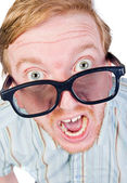 Angry Red Headed Geek — Stock Photo