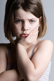 Sad Looking Child — Stock Photo