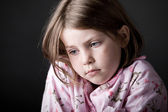 Shot of Young Child Looking Sad — Stock Photo