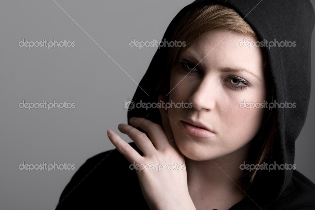 Shot of a 20s Female Looking Anxious — Stock Photo #2341972